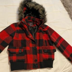 Red&black checkered jacket